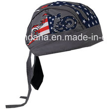 OEM Produce Customized Logo Printed Promotional Outdoor Sports Skull Biker Cap Headwrap