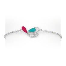 Multi Color 925 Bracelet Argent & Bracelet Bijoux Papillon Low MOQ (KT3505)