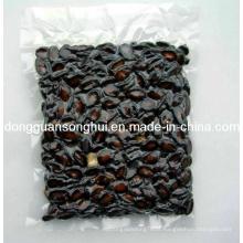 Saco de vácuo de semente de melão preto / saco de vácuo claro para lanche / plástico saco de vácuo