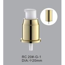 20mm aluminium lotion pump with aluminium overcap