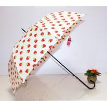Автоматическая открытая клубника печати Прямая леди Umbrella (BD-62)
