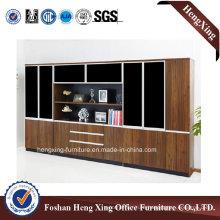 Aluminum Glass Doors Office Bookcase Modern Melamine Office Furniture (HX-6M165)