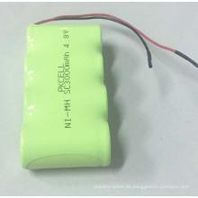 Sub C NI-MH SC3000mah Batería recargable 4.8V para UPS LR03 Batería alcalina AAA 1.5v baterías