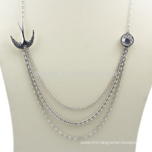 Custom Jewelry Metal Silver Layered Necklace