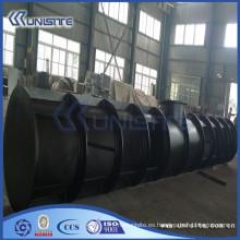 Caja de carga de acero resistente al desgaste personalizado para draga (USC4-012)