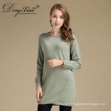 Pulls tricotés de cachemire de pull de col rond de femmes de style de l'Europe avec usine directe