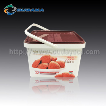 IML Customized Logo Printing Biscuit Box with Handle