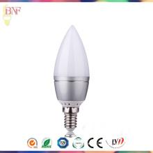 Bougie en verre solaire de Factort Factort E37 / E12 Ampoule 4W de lumière du jour E14 / E12