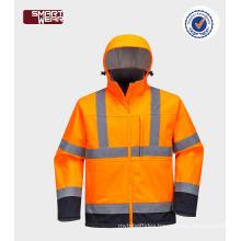 wholesale china factory direct bike safety jacket Men's high quality reflective softshell jacket