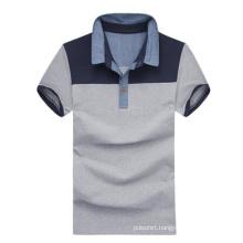 High Quality Stiff Collar Grey Cotton Plain Polo Shirts