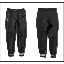 Space Cotton Pants Pockets Zip Knöchel gebundene Hosen