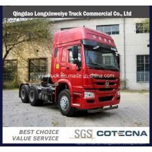 Caminhão do trator da cabine de 420HP Hw76 do caminhão do trator de HOWO,