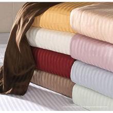 100% Algodão Sateen Ultra-Soft Striped Sheets - 4 Tamanhos