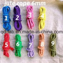 Cuerda teñida de yute para hacer obras de arte (JDR-6mm)