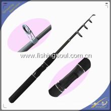 TSR004 5'6 '' fibra de vidrio telescópica cañas de pescar de viaje