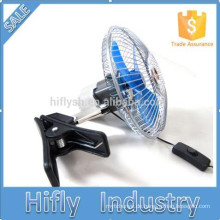 HF-806 DC12 / 24V Mini angetriebener Auto-Ventilator-tragbarer oszillierender Auto-Ventilator 6 Zoll-halbversiegelter Auto-Ventilator