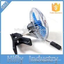 HF-806 DC12 / 24V Mini Powered Car Fan Ventilador de coche oscilante portátil 6 pulgadas de ventilador de coche semi-sellado