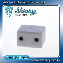 TC-152-A Conector de terminal cerámico de alta temperatura 600V 15A de 2 clavijas