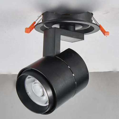 Black Recessed 12W LED Track Light