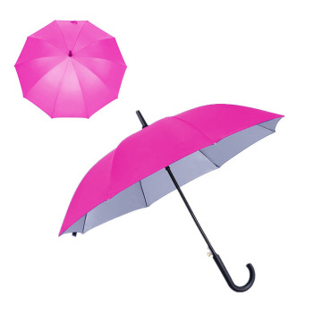 Wholesale 170t Polyester Advertising Silver Frame Cheap Promotional Straight Umbrella
