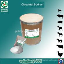 Fourniture de pharmacie en ligne Vétérinaire Closantel Sodium en poudre pour bovins et moutons