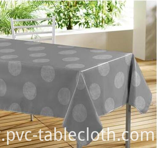 Printed Tablecloth With Non Woven Backing