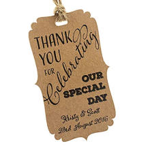 Customised Brown Kraft Thickness Paper Hang Tag