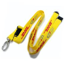 Lanière faite sur commande imprimée par soie adaptée aux besoins du client par nylon / polyester / soie de logo avec le support de badge d'identification