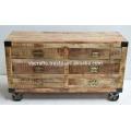 wooden rough wood sideboard indsutrial design