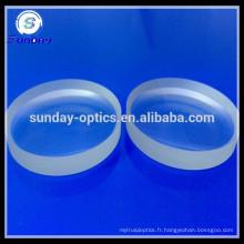 Lentille convexe en verre, K9, BK7,12.7mm, 20mm, 25mm, 25.4mm