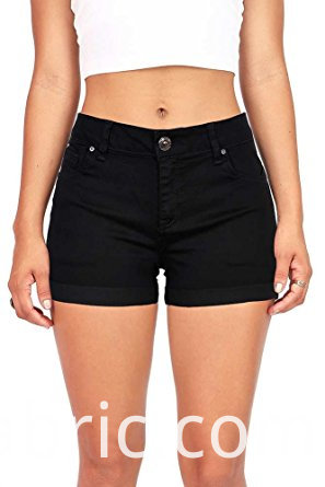539women S Juniors Perfect Fit Mid Rise Denim Shorts