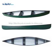 Canoa de pesca Canoa canadense Classic três assentos Canoa Caiaque