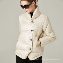 Customization Winter Women Short Stand Collar Down Coat