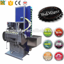 High speed full automatic bottle cap logo printing machine