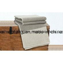 Woven Pure Virgin Merino Wool Stripes Blankets