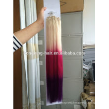Alibaba assessed factory high quality good supplier 3 tone color ombre hair