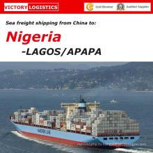 Товароотправитель Перевозкы груза океана от Китая к Лагос (экспедитор)