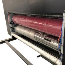 chain feeder 3 color flexo printer and slotter carton machine semi automatic chain feeding printing slotting die cutter machine