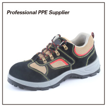 Suede Leather PU Injection Cheap Sport Safety Shoe