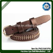Feminino couro real / design clássico Mulheres cintura / Lady bordado Vintage Boadicea belt
