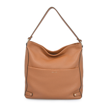 Frühlingstasche Naturleder Triangle Hobo Bag Tan