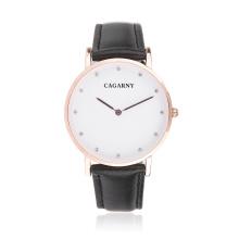 Модные наручные часы с 12rhinestones в качестве маркеров