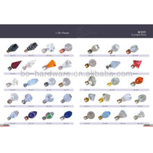 60mm vidrio fino de la barra de cortina, todas las clases de finial de la barra de cortina de cristal