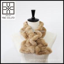 New design Elastic Faux Fur Snood