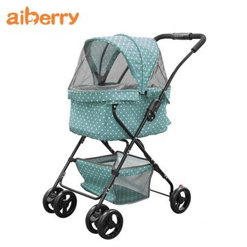 Aiberry Large Dogs 4 Wheels Travel Stroller Carrier