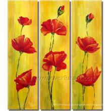 Pintura a óleo Hot-Sale da flor