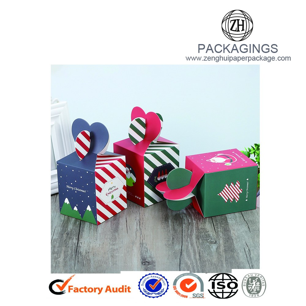 Christmas Eve gift apple packaging box foldable