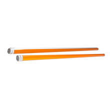 T5 T8 590nm amber tube light, transparent or milky PC cover, no blue light