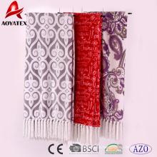 100 Polyester heißer Verkauf ganze China Fabrik Mikrofaser gedruckt erhitzt Flanell Fleecedecke