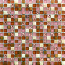Swimming Pool Gold Color Glass Mosaic Tile in Foshan (AJ2A1613)